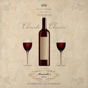 Chianti wine quadri per cucine